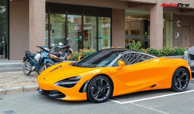 Đàm Thu Trang - vợ sắp cưới của doanh nhân Nguyễn Quốc Cường tự tin cầm lái siêu xe McLaren 720S - Ảnh 4.