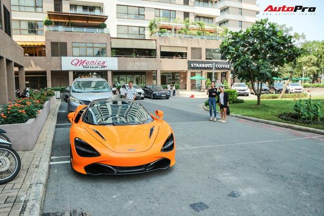Đàm Thu Trang - vợ sắp cưới của doanh nhân Nguyễn Quốc Cường tự tin cầm lái siêu xe McLaren 720S - Ảnh 1.