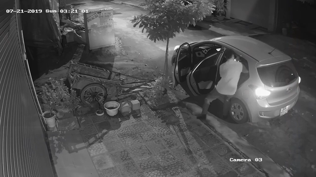 Clip: Người đàn ông đi xế hộp bê trộm chậu mai chiếu thủy đắt tiền lúc rạng sáng - Ảnh 3.