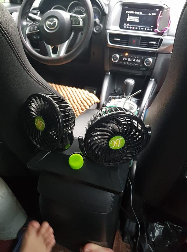 Thời tiết quá nóng, chủ xe Mazda CX-5 tự chế quạt ghế sau với giá chỉ vài trăm ngàn đồng - Ảnh 1.