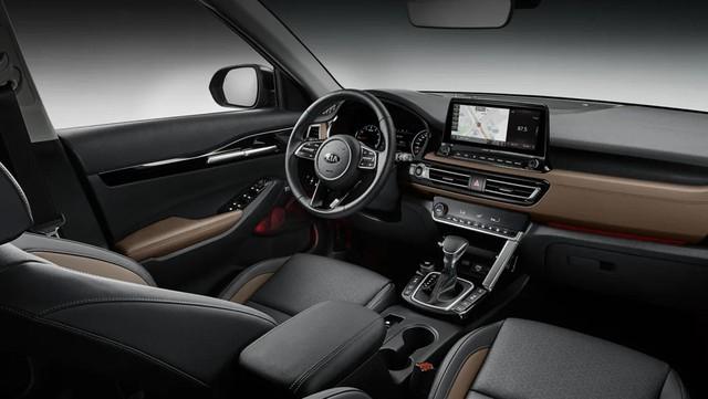 Đã có ảnh nội thất Kia Seltos: Cạnh tranh Honda HR-V bằng công nghệ - Ảnh 2.
