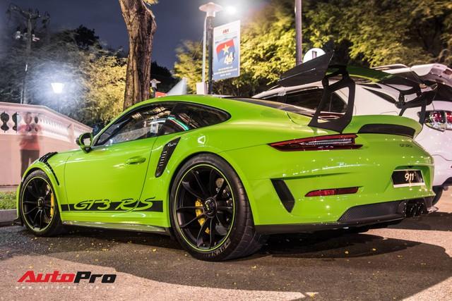 Porsche 911 GT3 RS Lizard Green độc nhất Việt Nam lần đầu ra phố Sài Gòn, thêm nhiều chi tiết độ TechArt Carbon khủng - Ảnh 4.