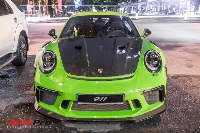 Porsche 911 GT3 RS Lizard Green độc nhất Việt Nam lần đầu ra phố Sài Gòn, thêm nhiều chi tiết độ TechArt Carbon khủng - Ảnh 5.