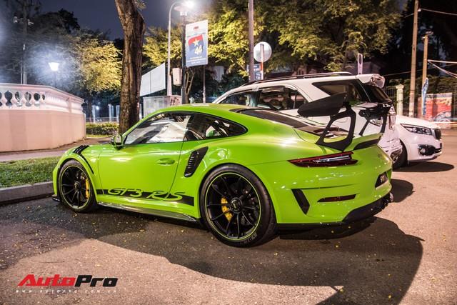 Porsche 911 GT3 RS Lizard Green độc nhất Việt Nam lần đầu ra phố Sài Gòn, thêm nhiều chi tiết độ TechArt Carbon khủng - Ảnh 12.