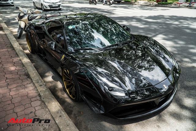 Ferrari 488 GTB độ Liberty Walk của đại gia đồng hồ Hà Nội bất ngờ xuất hiện tại Sài Gòn - Ảnh 5.