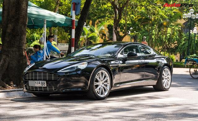 Hàng hiếm Aston Martin Rapide của đại gia Hà Thành đeo biển số siêu đẹp - Ảnh 2.