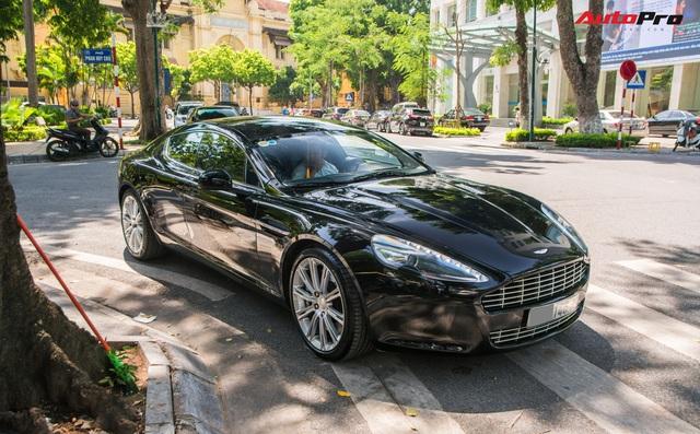 Hàng hiếm Aston Martin Rapide của đại gia Hà Thành đeo biển số siêu đẹp - Ảnh 1.