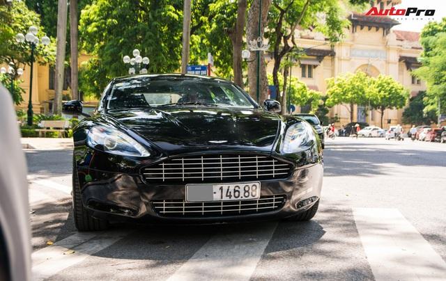 Hàng hiếm Aston Martin Rapide của đại gia Hà Thành đeo biển số siêu đẹp - Ảnh 3.