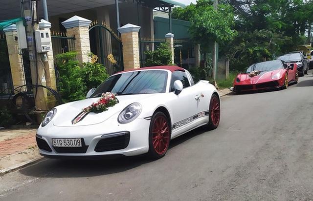 Siêu xe, xe thể thao và cặp đôi xe sang tham gia đám cưới của một đại gia Long An - Ảnh 1.