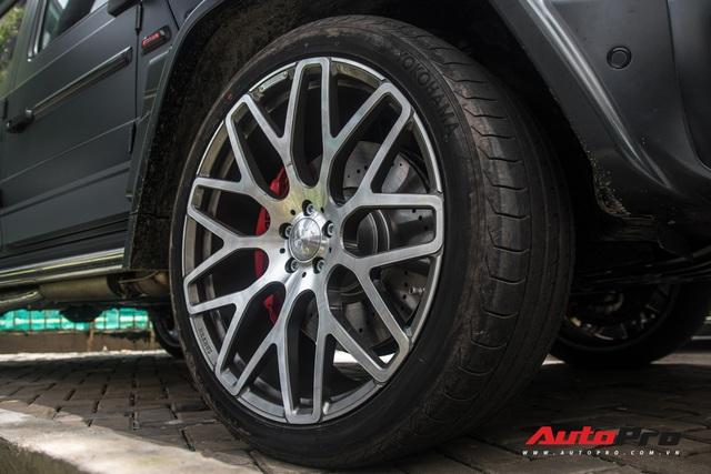 'Khủng long' Mercedes-AMG G63 độ bodykit Brabus xuất hiện trên phố, biển số dễ gây lầm tưởng với xe của Minh Nhựa - Ảnh 12.