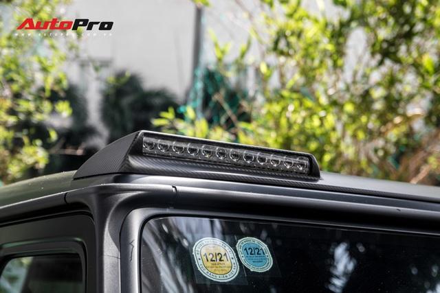 'Khủng long' Mercedes-AMG G63 độ bodykit Brabus xuất hiện trên phố, biển số dễ gây lầm tưởng với xe của Minh Nhựa - Ảnh 10.