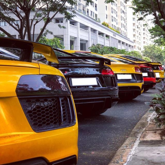 Dân chơi mang dàn Audi R8 đủ màu sắc hội ngộ tại Sài Gòn, chiếc nào cũng có tiểu sử đặc biệt - Ảnh 5.