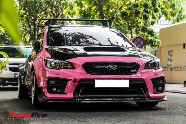 Hang hiem Subaru WRX STi mau huong do than rong doc nhat Viet Nam noi that co mot chi tiet gay to mo