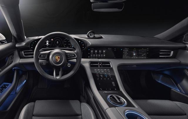 Đây là nội thất Porsche Taycan sắp về Việt Nam: Màn hình, công nghệ tràn ngập - Ảnh 1.