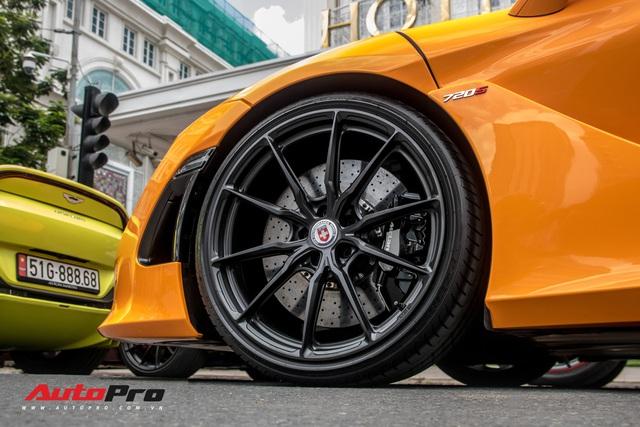 Cận cảnh bộ mâm 280 triệu đồng trên chiếc McLaren 720S của doanh nhân Nguyễn Quốc Cường - Ảnh 3.
