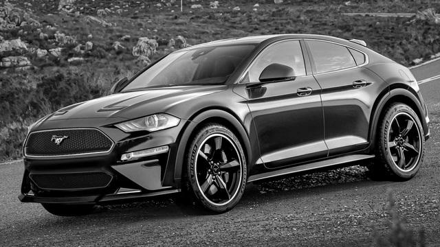 Ford Mustang phiên bản SUV chạy điện lần đầu được tạo hình với nhiều tranh cãi - Ảnh 1.