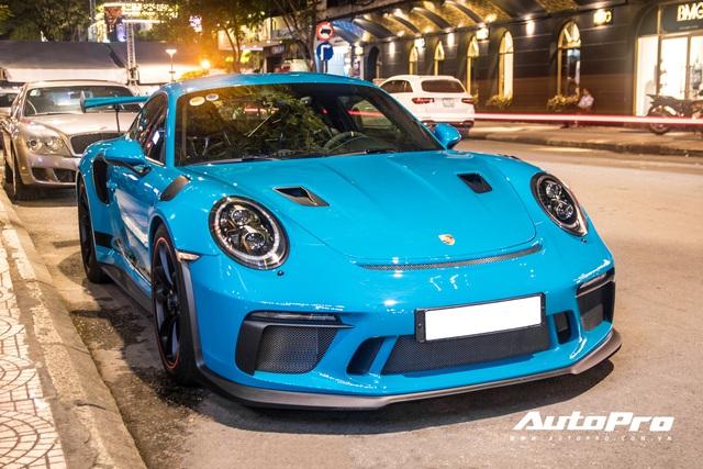 Đại gia Việt tậu pô hàng hiệu cho Porsche 911 GT3 RS Miami Blue độc nhất Việt Nam - Ảnh 1.
