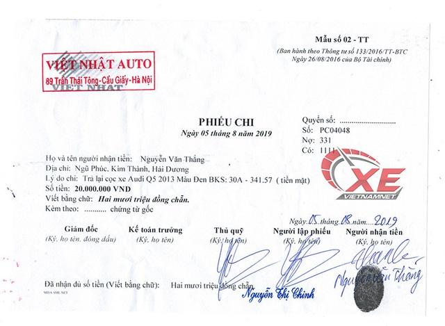 Tranh cãi bán Audi Q5 nghi tai nạn, chủ showroom xuống nước trả tiền cọc - Ảnh 1.