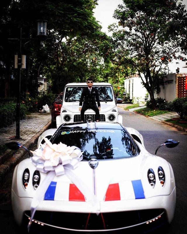 Trước đám cưới con gái, Minh nhựa ngồi trên Mercedes-AMG G63 Edition One chụp hình với Pagani Huayra 80 tỷ - Ảnh 1.