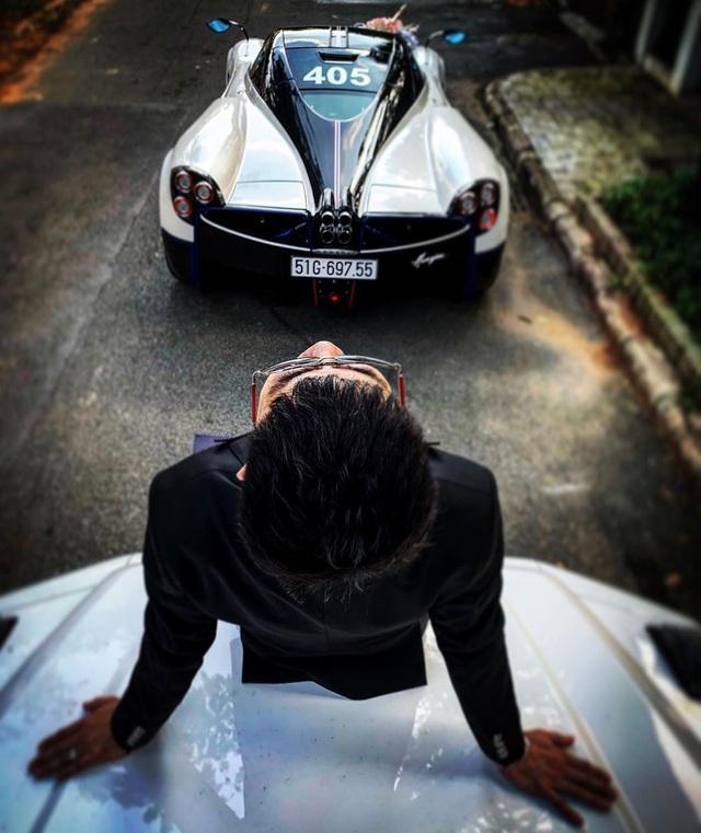 Trước đám cưới con gái, Minh nhựa ngồi trên Mercedes-AMG G63 Edition One chụp hình với Pagani Huayra 80 tỷ - Ảnh 2.