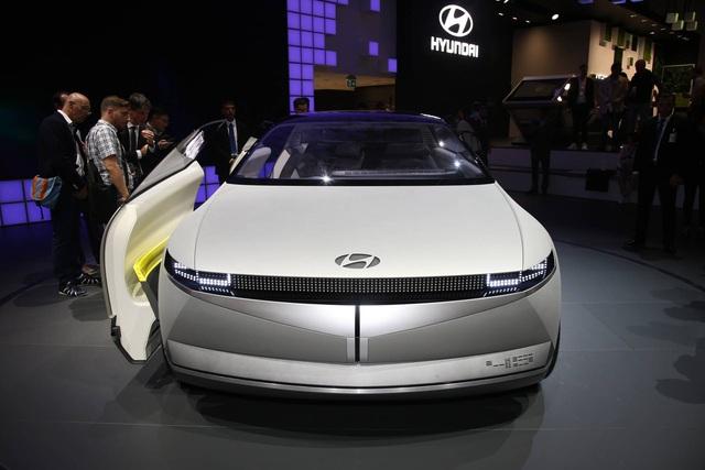 Hyundai 45 - Đàn anh Kona chạy điện với thiết kế đầu siêu dị đã lăn bánh trên đường, hứa hẹn ngày ra mắt không còn xa - Ảnh 4.