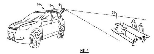 Ford lên ý tưởng lắp đặt máy chiếu phim trong lắp cốp xe, tiện lợi để giải trí khi đi du lịch và cắm trại - Ảnh 2.
