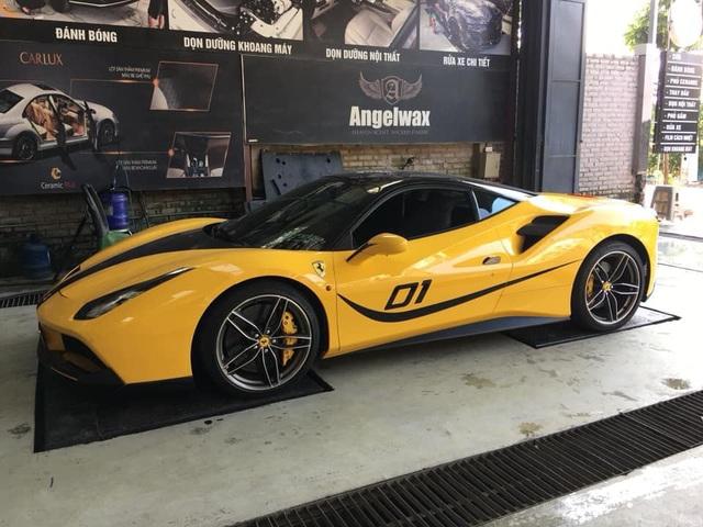 Ferrari 488 màu vàng Giallo Modena độc nhất Hà Nội xuất hiện trong diện mạo khác lạ - Ảnh 1.