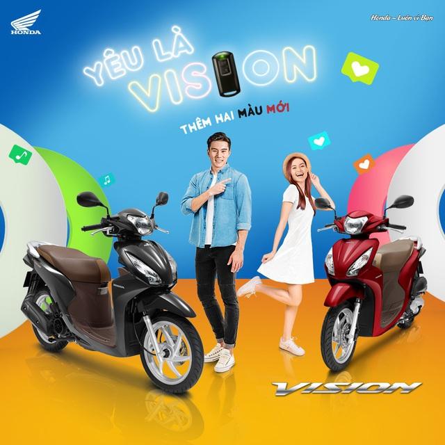 'Vua xe ga' Honda Vision thêm phiên bản mới, giá từ gần 30 triệu đồng - Ảnh 1.
