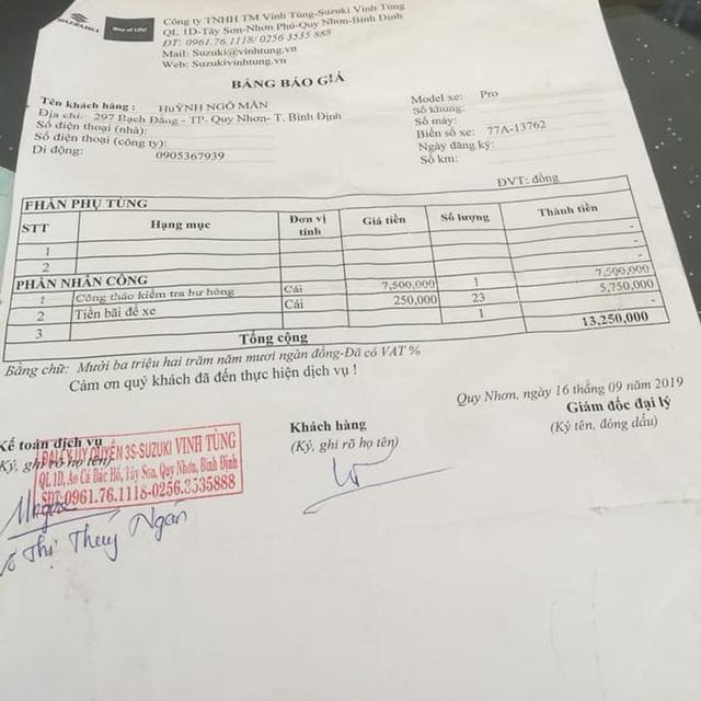 Chủ xe Ertiga tố đại lý Suzuki 'lừa tiền gửi xe' và bảng báo giá sửa chữa gần 300 triệu đồng gây choáng - Ảnh 4.