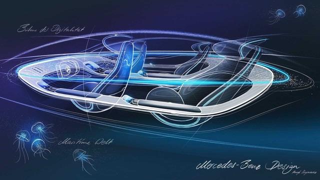 Mercedes nhá hàng nội thất EQ Concept đối đầu Porsche Taycan: Đậm chất xe tương lai - Ảnh 4.