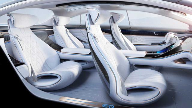 Mercedes nhá hàng nội thất EQ Concept đối đầu Porsche Taycan: Đậm chất xe tương lai - Ảnh 3.