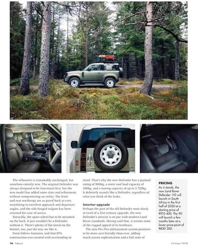 Land Rover Defender thế hệ mới lộ hàng sớm với 2 cấu hình dành cho fan địa hình - Ảnh 2.