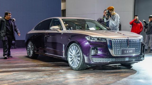 Xe sang Trung Quốc Hongqi H9 'nhảy' thiết kế Cadillac, Rolls-Royce và Maybach để đấu Mercedes-Benz E-Class