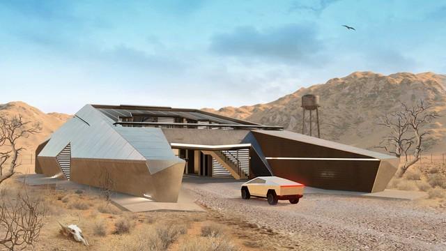 Cyberhouse - Biệt thự sinh ra để dành cho chủ xe Tesla Cybertruck, giá hơn 20 tỷ đồng - Ảnh 1.