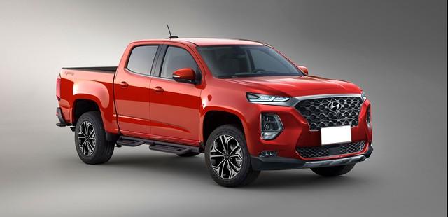 Cạnh tranh Ford Ranger, xe bán tải Hyundai sẽ sử dụng động cơ như xe sang - Ảnh 1.