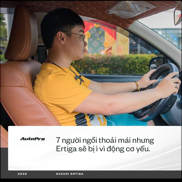98 chọn Ertiga mà không phải Xpander hay Vios chạy dịch vụ: 'Có người bảo xe gì mà lạ vậy, chưa thấy trên đường mà đã mua' - Ảnh 2.