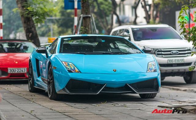 Chơi Tết, đại gia Hà Thành tiếp tục đổi màu Lamborghini Gallardo LP 570-4 Superleggera độc nhất Việt Nam