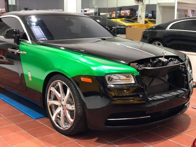 Rolls-Royce Wraith của đại gia Bạc Liêu đổi màu sơn cực độc để chơi Tết - Ảnh 1.