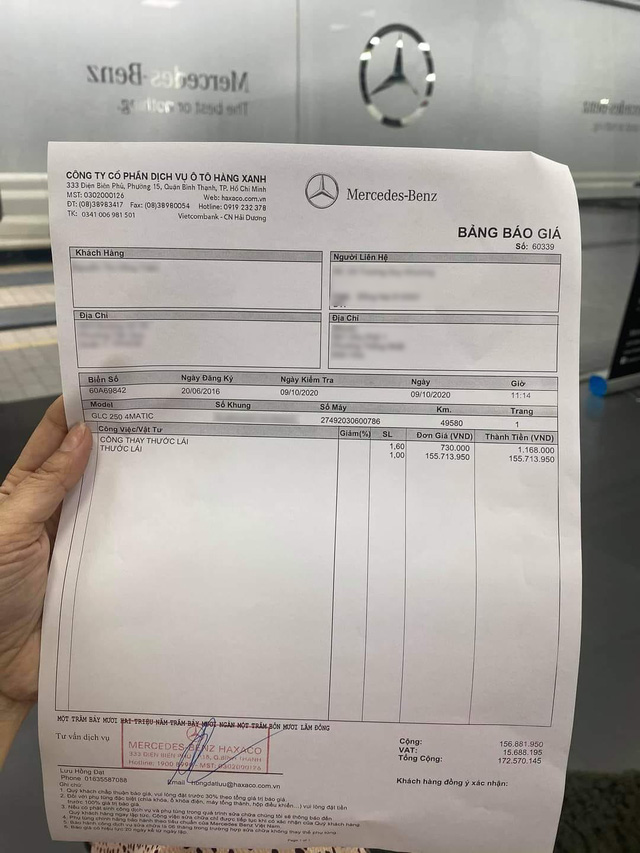 Choáng váng chi phí thay thước lái hết 155 triệu của Mercedes-Benz GLC, đắt ngang một chiếc phân khối lớn - Ảnh 1.