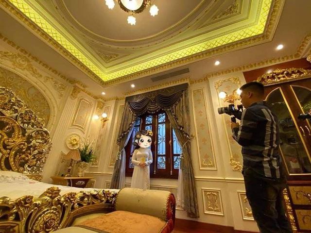 Choáng với đám cưới trong lâu đài dát vàng tại Tuyên Quang, đón dâu bằng xe Rolls Royce chiếm ngay spotlight trên mạng xã hội - Ảnh 4.