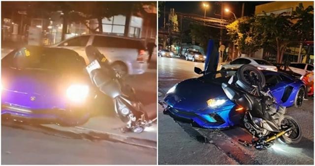 Cận cảnh Lamborghini Aventador S 25,6 tỷ bị xe máy tông méo trong đêm dịp Trung Thu  - Ảnh 1.