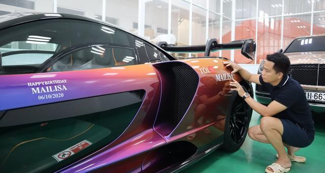 Chiều vợ như đại gia Hoàng Kim Khánh: Đích thân trang trí siêu phẩm McLaren Senna và một loạt siêu xe nhân dịp sinh nhật bà xã - Ảnh 4.