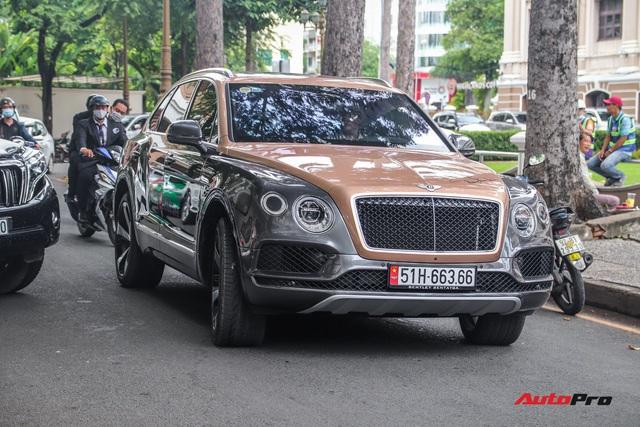 Cận cảnh Bentley Bentayga V8 hai tông màu cực độc của doanh nhân Hoàng Kim Khánh, tiểu sử của chiếc xe gây chú ý - Ảnh 4.