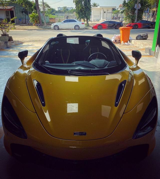 McLaren 720S Spider màu vàng độc nhất Việt Nam thay áo và dân tình bắt đầu nhận ra trend mới của làng siêu xe Việt - Ảnh 2.