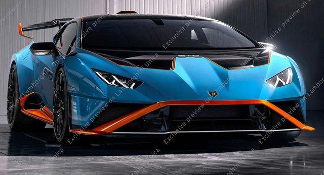 Lamborghini Huracan STO rò rỉ thiết kế ngay trước khi ra mắt - Ảnh 1.