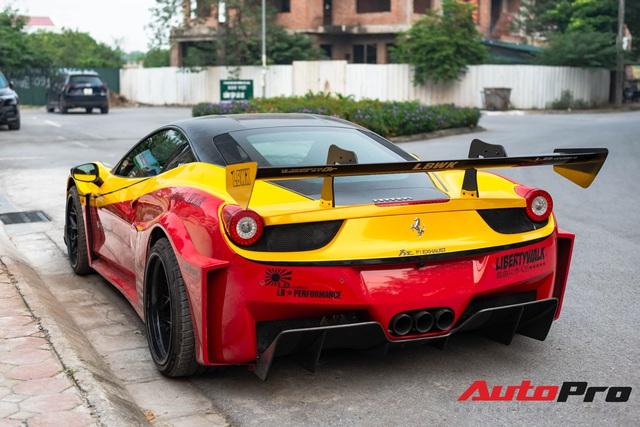 Bắt gặp Ferrari 458 Italia độ Liberty Walk LB-Silhouette Works GT độc nhất Việt Nam, được đồn đoán nằm chung garage với loạt siêu xe khủng - Ảnh 4.