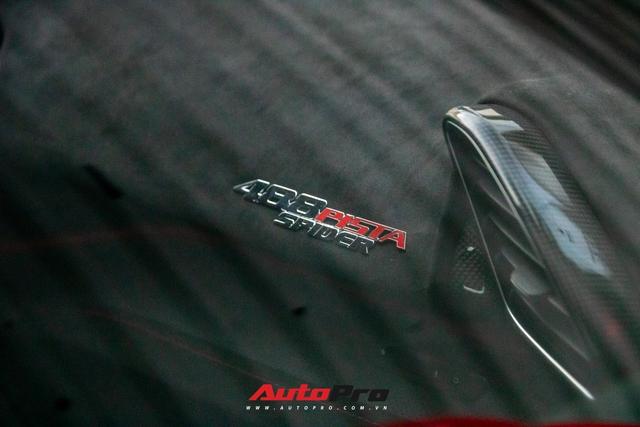 Khám phá Ferrari 488 Pista Spider của đại gia Hoàng Kim Khánh: Nhiều chi tiết như xe đua - Ảnh 11.