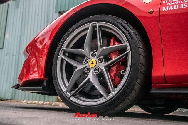 Khám phá Ferrari 488 Pista Spider của đại gia Hoàng Kim Khánh: Nhiều chi tiết như xe đua - Ảnh 5.