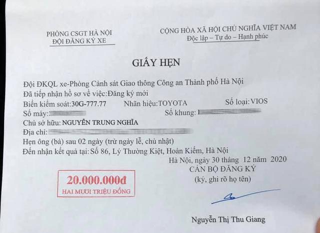 Chủ Toyota Vios tại Hà Nội bốc được biển ngũ quý 7, dân tình thi nhau luận biển, đoán giá bán lại hàng tỷ đồng - Ảnh 1.