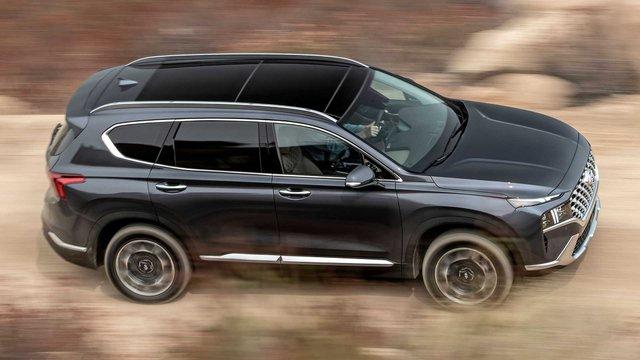 Hyundai Santa Fe 2021 tăng nhẹ giá bán, cao nhất lên tới gần 1 tỷ 200 triệu đồng khi quy đổi ra tiền Việt - Ảnh 1.